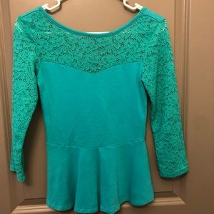 Express turquoise top